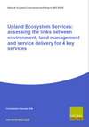 Upland Ecosystems Service: assessing the links between environment, land management and service delivery for 4 key services (Thumbnail link to record)