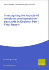 Investigating the impacts of windfarm development on peatlands in England (Thumbnail link to record)