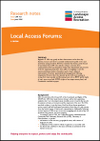 Local Access Forums: a review (Thumbnail link to record)