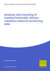 Analysis and Reporting of Lowland Freshwater Ditches Validation Network Monitoring Data (Thumbnail link to record)