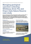 Managing geological specimen collecting: Whittlesey Brick Pits and King's Dyke Nature Reserve case study (Thumbnail link to record)