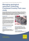 Managing geological specimen collecting: Fowlmead Country Park case study (Thumbnail link to record)