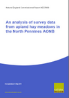 An analysis of survey data from upland hay meadows in the North Pennines AONB (Thumbnail link to record)