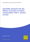 Scientific research into the effects of access on nature conservation: Part 1: access on foot (Thumbnail link to record)