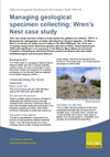 Managing geological specimen collecting: Wren's Nest case study (Thumbnail link to record)