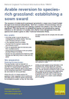 Arable reversion to species-rich grassland: establishing a sown sward (Thumbnail link to record)