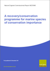 A recovery/conservation programme for marine species of conservation importance (Thumbnail link to record)