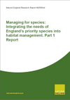 Managing for species: Integrating the needs of England's priority species into habitat management (Thumbnail link to record)