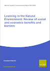 Learning in the Natural Environment: Review of social and economic benefits and barriers (Thumbnail link to record)