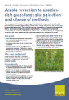 Arable reversion to species-rich grassland: site selection and choice of methods (Thumbnail link to record)