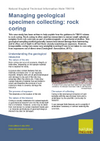 Managing geological specimen collecting: rock coring (Thumbnail link to record)