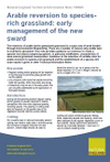 Arable reversion to species-rich grassland: early management of the new sward (Thumbnail link to record)