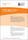Public rights of way: a review of provision by highway authorities (Thumbnail link to record)