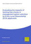 Evaluating the impacts of limiting free choice in management option selection by Entry Level Stewardship (ELS) applicants (Thumbnail link to record)