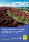 Analysis of responses to Natural England's consultation on 'the future management of National Trails from April 2013' (Thumbnail link to record)