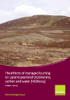The effects of managed burning on upland peatland biodiversity, carbon and water (Thumbnail link to record)