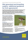Wet grassland and breeding waders: additional guidance for HLS agreements (Thumbnail link to record)