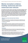 Marine recreation evidence briefing: motorised and non-motorised land vehicles (Thumbnail link to record)