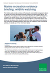 Marine recreation evidence briefing: Wildlife watching (Thumbnail link to record)