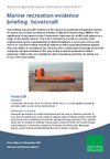Marine recreation evidence briefing: hovercraft (Thumbnail link to record)