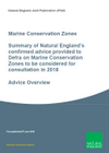 Summary of Natural England's confirmed advice provided to Defra on Marine Conservation Zones to be considered for consultation in 2018 (Thumbnail link to record)