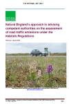 Natural England's approach to advising competent authorities on the assessment of road traffic emissions under the Habitats Regulations (Thumbnail link to record)