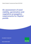An assessment of seed viability, germination and vegetative propagation requirements for least water-lily (Nuphar pumila) (Thumbnail link to record)