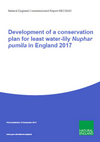 Development of a conservation plan for least water-lily (Nuphar pumila) in England 2017 (Thumbnail link to record)