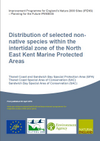 Distribution of selected non-native species within the intertidal zone of the North East Kent Marine Protected Areas (Thumbnail link to record)