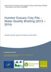 Humber Estuary Clay Pits - Water Quality Briefing (2013 – 2014) (Thumbnail link to record)