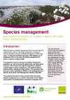 Improvement Programme for England's Natura 2000 Sites (IPENS): Species management workshop notes (Thumbnail link to record)