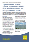 A possible new marine Special Protection Area for birds within the Solent and along the Dorset Coast (Thumbnail link to record)
