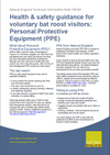 Health & safety guidance for voluntary bat roost visitors: Personal Protective Equipment (PPE) (Thumbnail link to record)