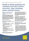 Health & Safety guidance for voluntary bat roost visitors: churches, older buildings, spires and bell towers (Thumbnail link to record)
