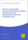 Review of Favourable Conservation Status and Birds Directive Article 2 interpretation within the European Union (Thumbnail link to record)
