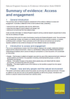 Summary of evidence: Access and engagement (Thumbnail link to record)