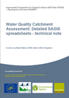 Water Quality Catchment Assessment: Detailed SAGIS spreadsheets - technical note (Thumbnail link to record)