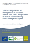 Spartina anglica and its management in estuarine Natura 2000 sites: an update of its status and monitoring future change in England (Thumbnail link to record)