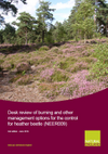 Desk review of burning and other management options for the control for heather beetle (Thumbnail link to record)