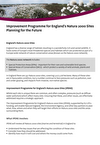 Improvement Programme for England's Natura 2000 Sites: Project Information Note (Thumbnail link to record)