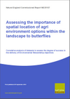 Assessing the importance of spatial location of agri environment options within the landscape to butterflies (Thumbnail link to record)