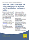 Health & safety guidance for voluntary bat roost visitors: working at height and use of ladders (Thumbnail link to record)