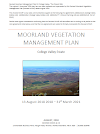 College Valley Estate Moorland Vegetation Management Plan (Thumbnail link to record)