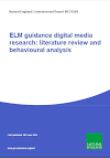 ELM guidance digital media research literature review and behavioural analysis (Thumbnail link to record)