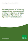An assessment of evidence supporting a programme of wetland restoration projects in the New Forest Site of Special Scientific Interest (Thumbnail link to record)