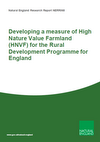 Developing a measure of High Nature Value Farmland (HNVF) for the Rural Development Programme for England NERR068 (Thumbnail link to record)