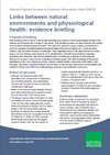 Links between natural environments and physiological health: evidence briefing (Thumbnail link to record)