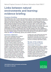 Links between natural environments and learning: evidence briefing (Thumbnail link to record)