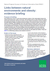 Links between natural environments and obesity: evidence briefing (Thumbnail link to record)