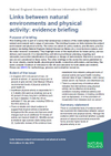 Links between natural environments and physical activity: evidence briefing (Thumbnail link to record)